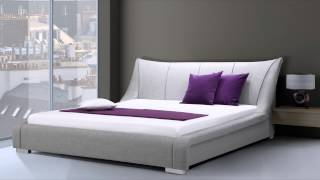 Beliani Upholstered Bed - 6 Ft - Super King Size Incl. Stable Slatted Frame - Grey - Nantes  - Eng