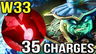 35 Blood Stone Charges Storm Spirit by W33 Dota 2