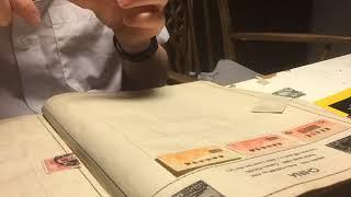 stamp album restoration