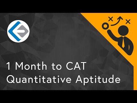 1 Month to CAT - Quantitative Aptitude | CAT 2017