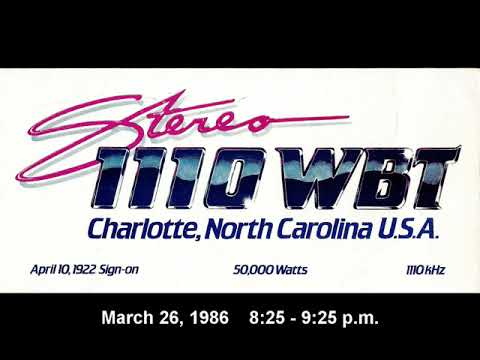 1110 WBT Charlotte - Hello Henry Program 1986