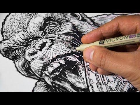 Drawing KING KONG vs GODZILLA vs PACIFIC RIM - The Most ...