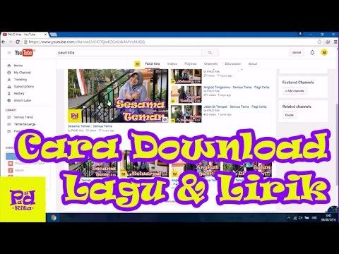 Cara Download Lagu dan Lirik di PAUD Kita