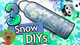 3 pomysły na domowy śnieg | śnieg z pianki, śnieżki z papieru i śniegowy glut