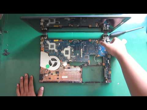 Toshiba Ultrabook Satellite U940 U945 Disassembly and Fan Cleaning