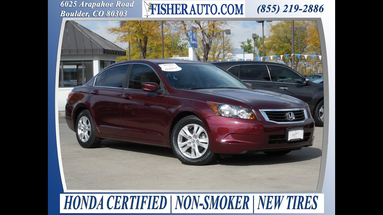 Perfect Honda Certified|2010 Honda Accord LX P|Basque  Red|$16,900*|Longmont Denver|Fisher Honda|P6828