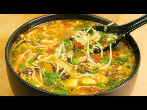 It's cold, the whole family is the most hot and sour soup, sour and spicy.