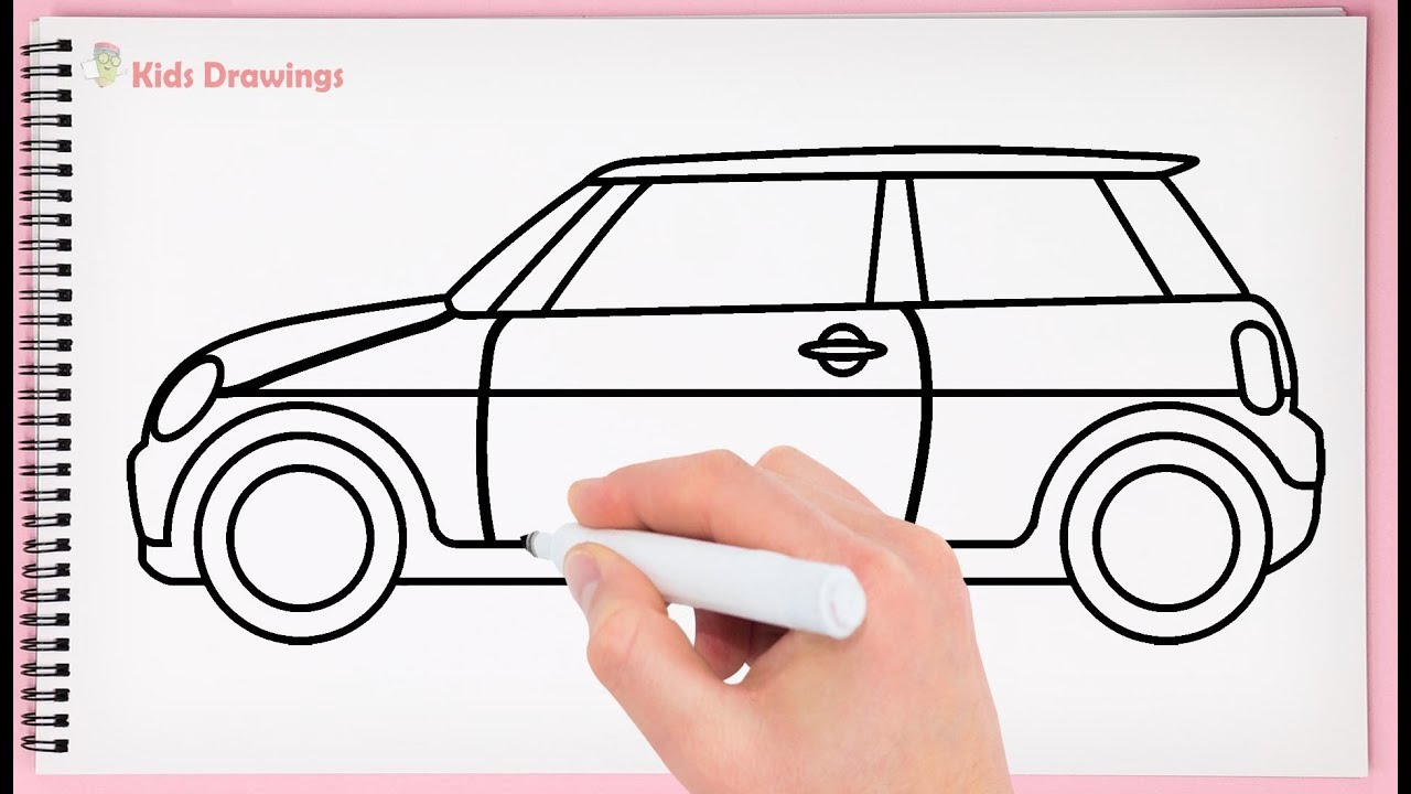 How to Draw Mini Cooper Car Step by Step Learn Drawing ...