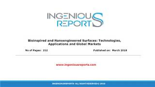 2017-2022 : Global Commercial Growth Market for Nanoengineered Surfaces