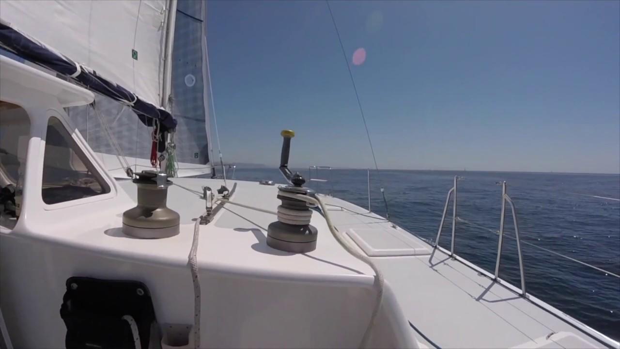 Newport To Dana Point Yacht Race On The Cross 42' Trimaran `Cherokee`