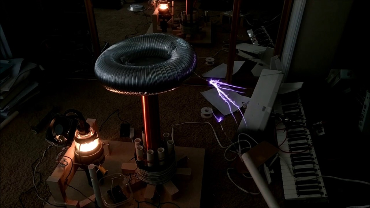 Vacuum Tube Tesla Coil With 3X2500F3 TX Tube Works ...