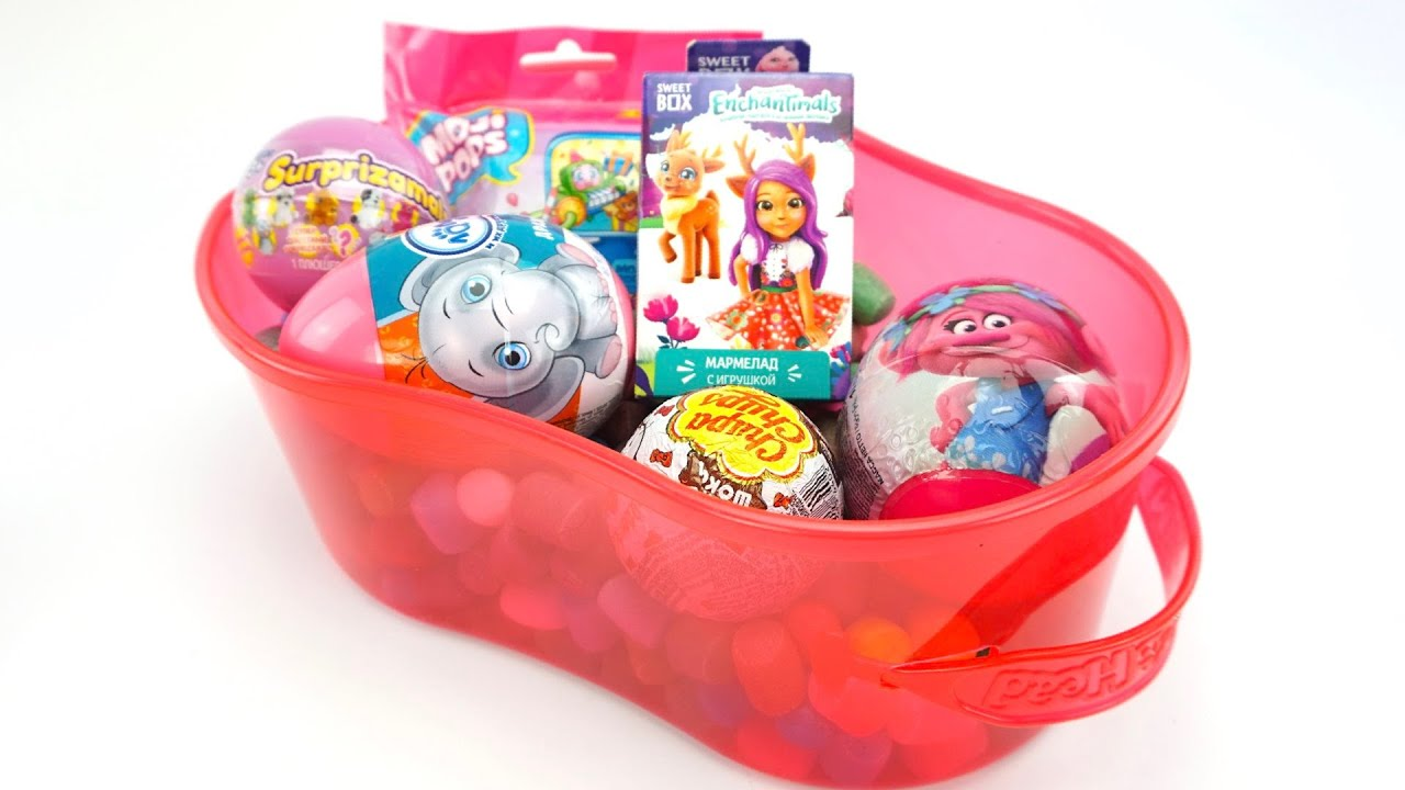 Сюрпризы и игрушки из любимых мультфильмов