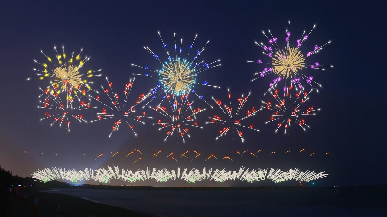 2021農曆跨年動畫煙火Chinese New Year fireworks show(Fwsim fireworks 花火/煙火)