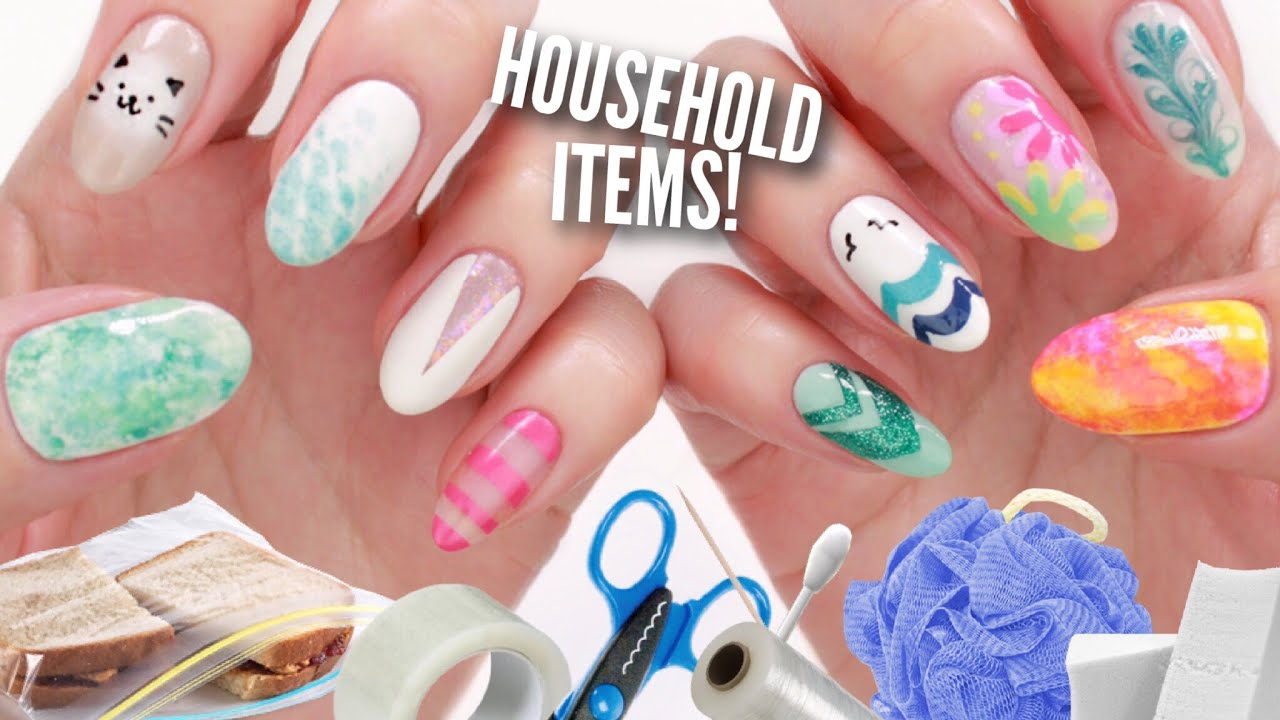 10 Nail Art Designs Using Household Items The Ultimate