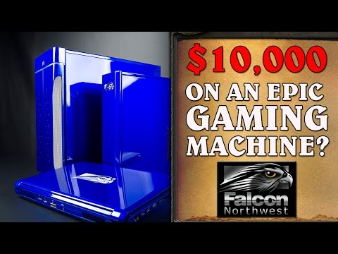 $10,000 EPIC Gaming Rig Review & Build - Falcon Northwest!
