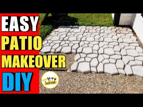 How to make concrete and Makeover the patio