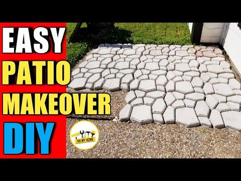 How to Make Concrete | DIY Patio makeover