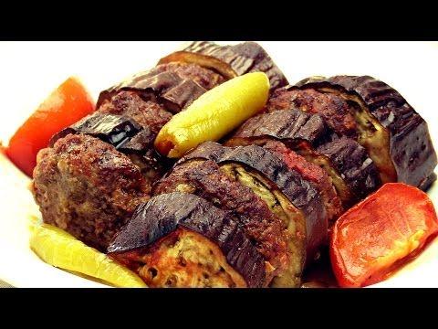 Eggplant Kebab Recipe - Easy Baked Turkish Shish Kebab
