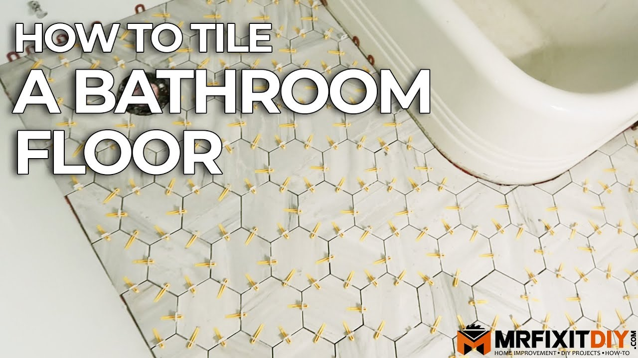 How To Tile A Bathroom Floor Diy