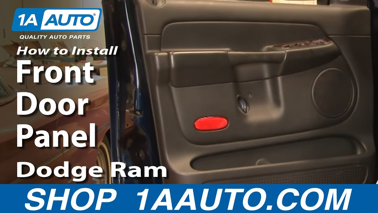 How To Remove Front Door Panel 02 08 Dodge Ram Youtube