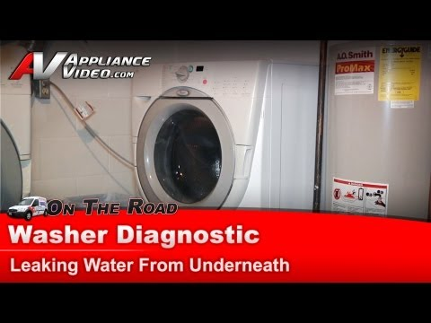 kenmore washing machine leaking water from underneath