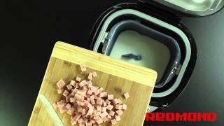 Хлеб с ветчиной и сыром в хлебопечи REDMOND M1902. Рецепты для хлебопечи