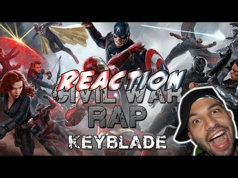 CIVIL WAR RAP - #TeamCap vs #TeamIronMan | Keyblade | Video Reaccion | Reaction