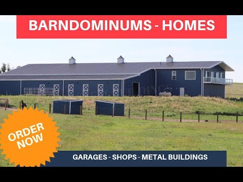 Barndominiums - Combo Horse Barn / Riding Arena / Steel Building Homes (AMF Steel Buildings)