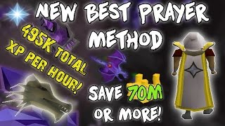 OSRS: Necromancy Guide | NEW BEST Prayer Method! 495k Xp/Hr & SAVE Over 70m!