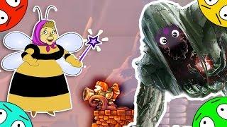 🐾 Баба Капа против ученого зомби. Пожарный vs демонов # 19. Мультфильм про лунтиков.