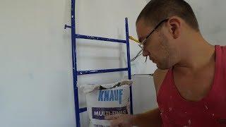 обзор шпаклевки Knauf Мульти-финиш. Шпаклюем потолок, подводим итоги.