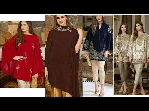 d87d791299 Latest velvet dress designs for ladies /Latest Dress Design for winter/Dress  Design 2017-2018