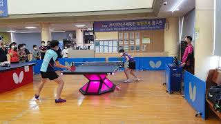 국가대표 정영식 :  정우빈(내동중) 시범경기 (코리아…