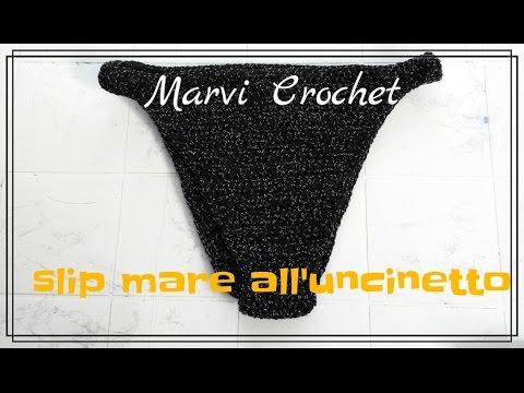 Tutorial Slip Bikini Alluncinetto Crochet Bikini Bottom Youtube