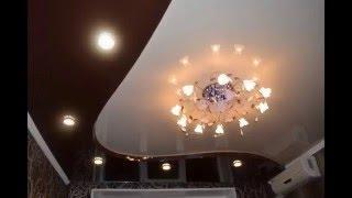 Двухуровневые натяжные потолки для зала(, 2016-03-13T10:28:36.000Z)