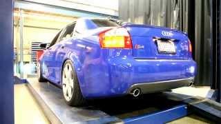 audi b6 s4 stock exhaust vs muffler deletes