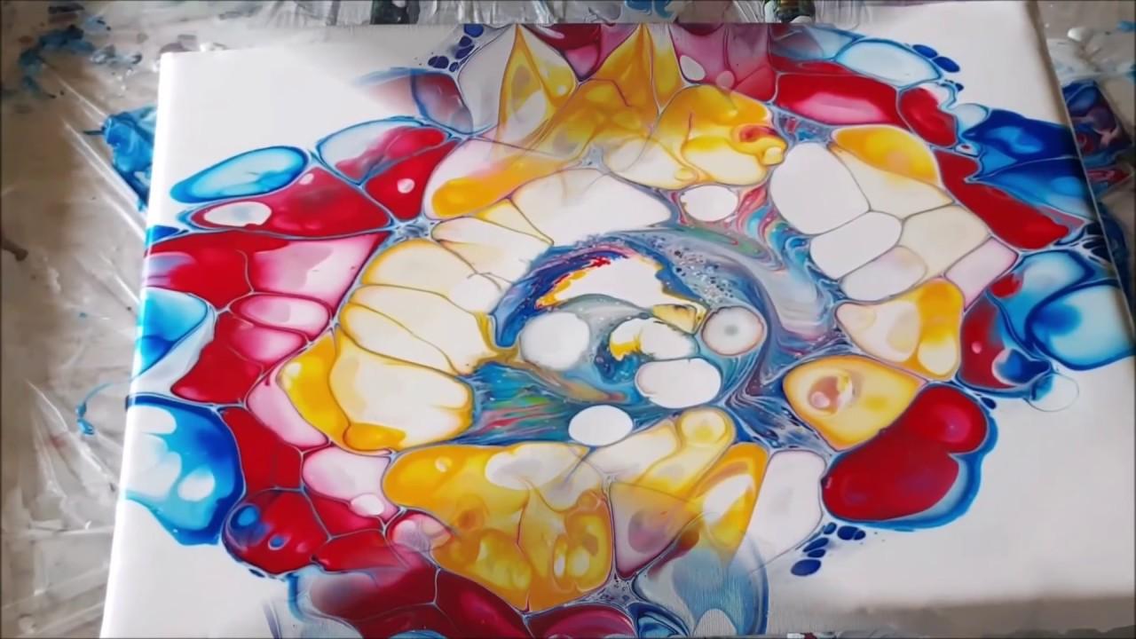 Acrylic pouring deutsch mit Holzleim by Katys Kreativ Blog