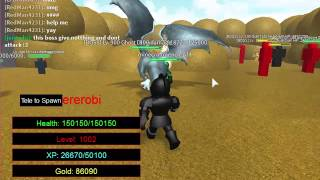 roblox knight's revenge rpg: Final boss and DRAGON!