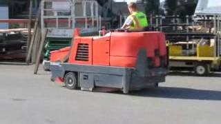 Sold! Powerboss Commander T82 Ride On Street Sweeper Scrubber bidadoo.com