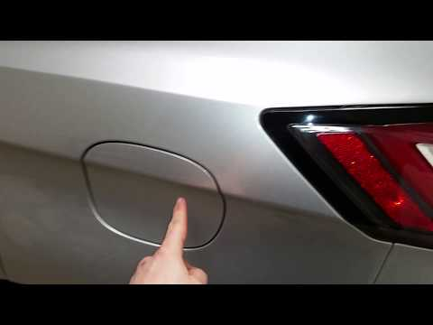 2015 To 2019 Ford Edge - How To Open Gas Filler Cover / Door - No Cap - Capless