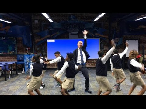 Ron Clark Academy dancing teacher busting all the right moves