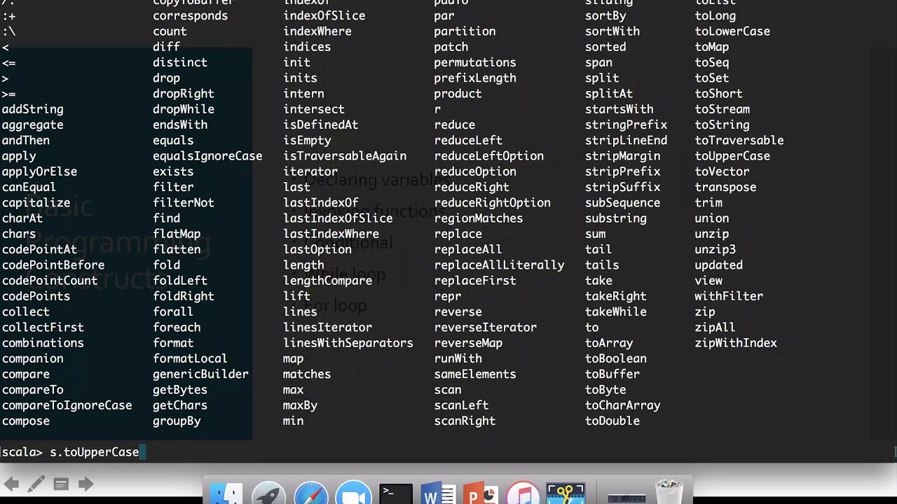 02 Scala Fundamentals - Basic Programming Constructs