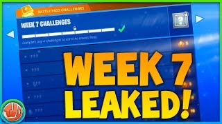 WEEK 7 CHALLENGES *LEAKED*! BELANGRIJKSTE WEEK!!! - Fortnite: Battle Royale
