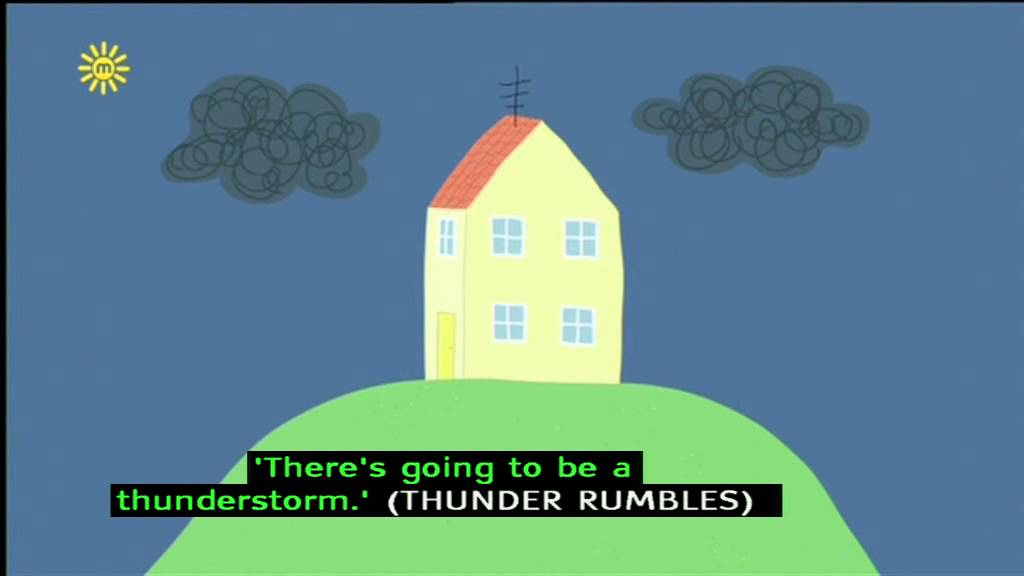 Peppa Pig Series 1 Thunderstorm With Subtitles Youtube