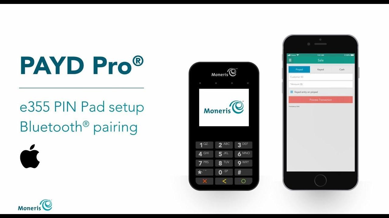 PAYD Pro e355 PIN Pad Setup: Bluetooth Pairing