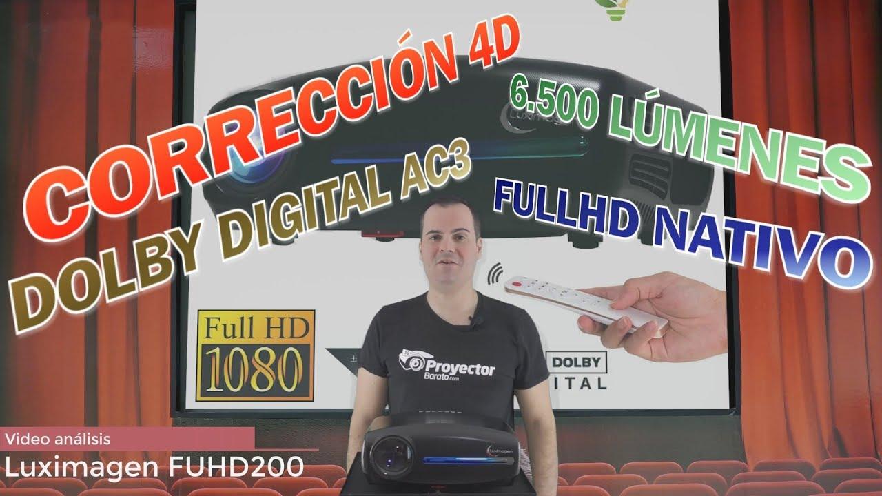 Luximagen FUHD200 proyector FULLHD para cine y gaming en 280 pulgadas