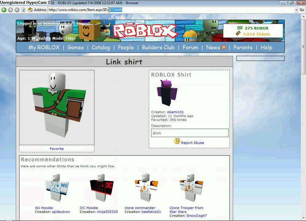 roblox  how to hack shirts  decals  t