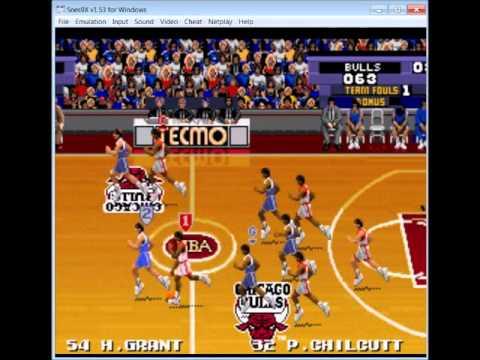 tecmo nba basketball nes game genie