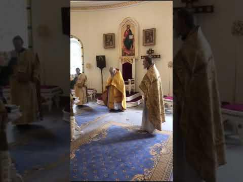 Служба в храме святого благоверного князя Игоря Черниговского в Переделкино