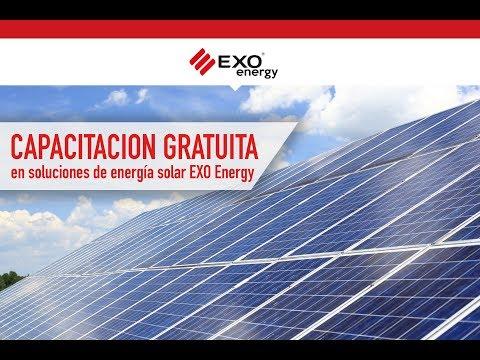 Capacitación Gratuita en soluciones de energía Solar EXO Energy